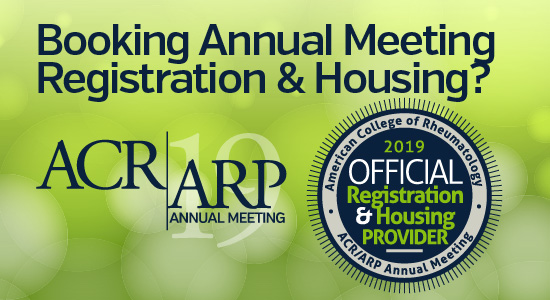 ACR/ARP Annual Meeting official registraiton and housing provider