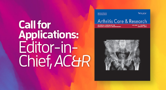 Call for Applications: Editor-in-Chief, AC&R