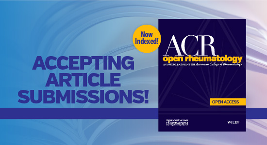 ACR Open Rheumatology journal