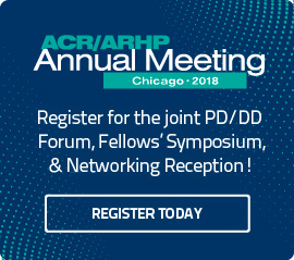 Program and Division Director Forum at ACR/ARHP Annual Meeting